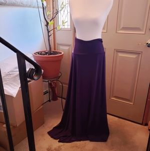 Lularoe Plum Purple Maxi skirt Womens XL